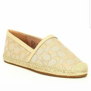 Coach Casey Espadrilles Cream Color size 9.5